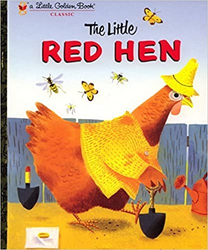 The cover of the book, Little Red Hen.