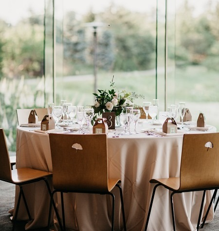 Ginkgo Room Wedding Guest Table