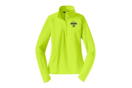Yellow zip-up sweater included in registration for the Pine Pacer Challenge