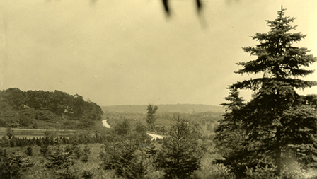 The stark landscape in the early 1920s