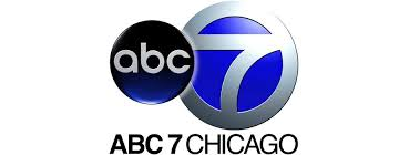 Black, blue and silver logo of ABC7 television station