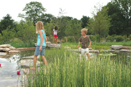 Wonder Pond in the Children's Garden