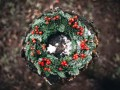 Add natural elements to your outdoor wreaths