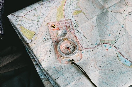 Navigating with a Map and Compass